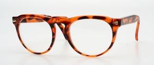 Eine klassische Panto Brillenfassung mit goldenen Ziernieten