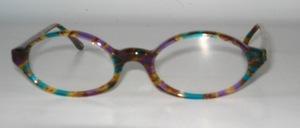 Eine klassiche ovale Brillenfassung aus tollem Azetat