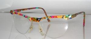 Randlose Azetat Balkenbrille mit 4 Schrauben