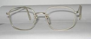 Eine alte zeitlose Nickel Metall Brillenfassung der 60er Jahre, mit  Nasenstegen