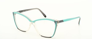 Funny lady frame made of acetate in Cateyeform