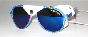 Sportbrille in Jugendgröße mit echtem weißen Leder u