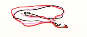 3 cord eyeglass straps in 3 different colors