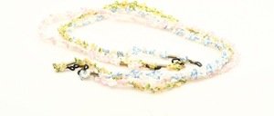 3 beautiful flowers spectacle straps in three different colors