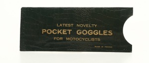 A 100 year old paper case for former motorcycle wind goggles