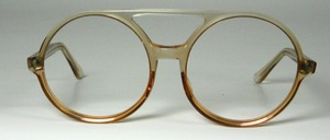 A very great, extremely large round acetate acetate frame with double bridge from the 80s