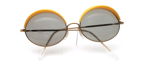 Funny 50s sunglasses with colorful tops in: green, yellow, orange, blue or white available