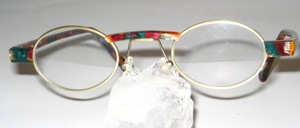 High-quality, oval combination eyeglass frame