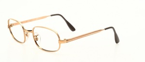 A classic, almost oval eyeglass frame in 12 kt