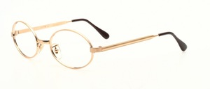 A classic, oval spectacle frame in 12 kt