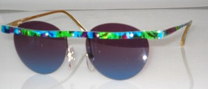 Rimless beam acetate sunglasses with screws