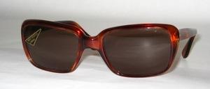 Zeitlose, hochwertige Azetat - Herren Sonnenbrille, original späte 60er Jahre