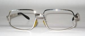 Stabile , hochwertige,  große 70er Jahre echte Rhodium Fassung von SELECTA USA