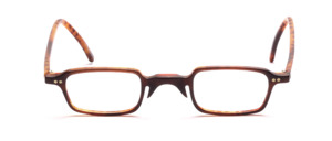 Dark acetate dark brown with a slightly lighter inside and temples