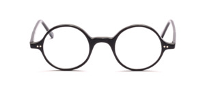 Classic round acetate frame in timeless black