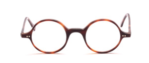 Classic round acetate frame in timeless Havana brown