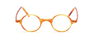 Classic round acetate frame in light honey color