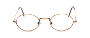 Classic oval metal frame with nose pieces