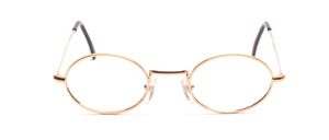 Classic oval metal frame with nose studs