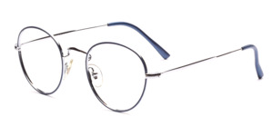 Timeless classic panto frame in silver with blue glass rim