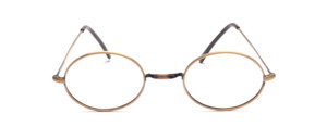 Classic oval W-bridge Frame in antique gold from our bestseller series