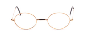 Classic oval W-bridge Frame in gold from our bestseller series