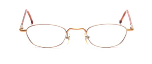 Lightweight metal frame in matt silver with matt gold with flexible hinge