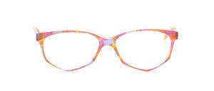 Acetat Damenbrille in Schmetterlingsform aus den 1990er Jahren in bunter pastell Mosaikoptik