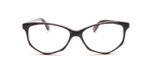 Damenbrille in Schmetterlingsform aus den 1990er Jahren aus Acetat in grau schwarz marmoriert