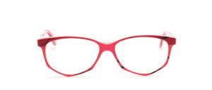 Acetat Damenbrille in Schmetterlingsform aus den 1990er Jahren in Rot gemustert