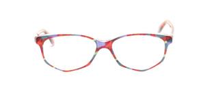 Acetat Damenbrille in Schmetterlingsform aus den 1990er Jahren in bunt marmoriert