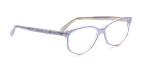 Acetat Damenbrille in Schmetterlingsform aus den 1990er Jahren in hellblauem Perlmutt