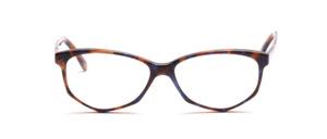 Damenbrille in Schmetterlingsform aus den 1990er Jahren aus Acetat in braun blau marmoriert