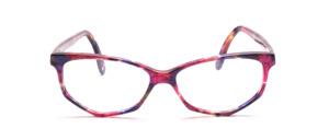 Damenbrille in Schmetterlingsform aus den 1990er Jahren aus Acetat in lila, pink und rose marmoriert