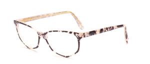 Damenbrille in Schmetterlingsform aus den 1990er Jahren aus Acetat in perlmutt schwarz marmoriert