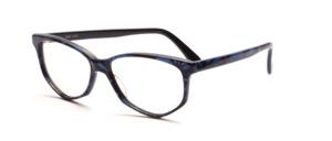Acetat Damenbrille in Schmetterlingsform aus den 1990er Jahren in Schwarz Blau marmoriert