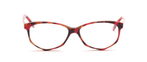 Acetat Damenbrille in Schmetterlingsform aus den 1990er Jahren Rot Braun marmoriert