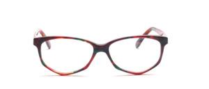 Acetat Damenbrille in Schmetterlingsform aus den 1990er Jahren in Lila Grün marmoriert