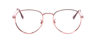 High quality metal frame in classic panto shape with chiselled nose bridge and temples