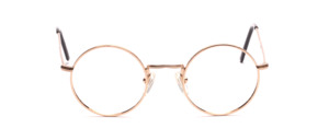 Round metal frame, chased in gold from our classic line