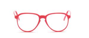80er Jahre Acetat Brillenfassung mit Schlüssellochsteg in einem frischen Rot