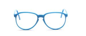 80er Jahre Acetat Brillenfassung mit Schlüssellochsteg in Türkisblau