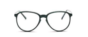 80er Jahre Acetat Brillenfassung mit Schlüssellochsteg, Grün meliert