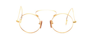 Kappa goggles with high bridge and long iron bars in matt gold matt with real cork pads