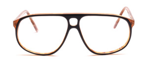 Oversize Herrenbrille in Pilotform mit Doppelsteg