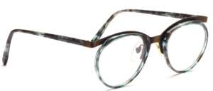 Men's combination frame with a green patterned midsection and straps by Valentino Toscani