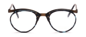 Men's combination frame with a dark green patterned midsection and straps by Valentino Toscani