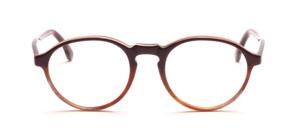 Brillenfassung mit Schlüssellochsteg in Hornfarben oben Dunkelbraun abgesetzt