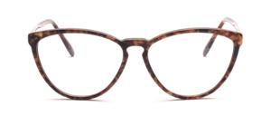 Feine Schmetterlingsbrille aus den 90er Jahren für Damen in Gold, Schwarz marmoriert