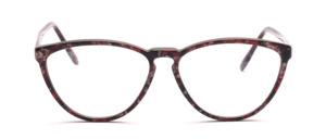 Feine Schmetterlingsbrille aus den 90er Jahren für Damen in rötlich marmoriert in einer gut tragbaren Größe